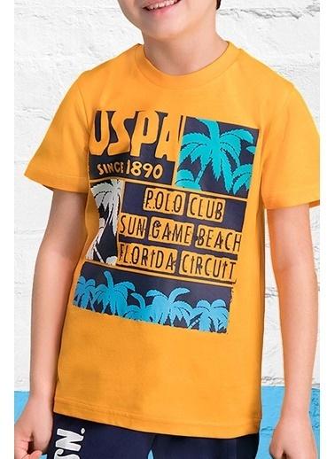 U.S. Polo Assn. U.S. Polo Assn Lisanslı Oranj Erkek Çocuk Kapri Takım Oranj